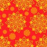 Желтые мандалы на красной предпосылке Стоковое Фото