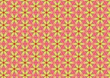Желтые маргаритки на розовой картине стоковые фотографии rf