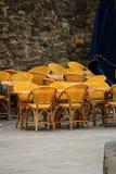 Желтые стулы Стоковые Изображения