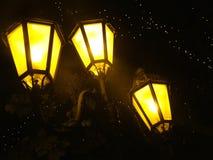 Желтые уличные светы Стоковые Фото