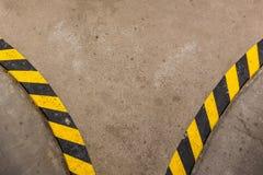 Желтые черные обочины Стоковое Фото