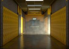 Желтые шкафчики школы пакостные бесплатная иллюстрация