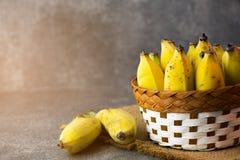 Желтый банан в корзине Стоковое Изображение RF