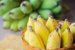 Желтый банан в корзине Стоковые Изображения RF