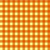 Желтый и белый безшовный вектор скатерти Безшовный традиционный вектор картины скатерти Геометрическая простая квадратная картина Стоковое фото RF