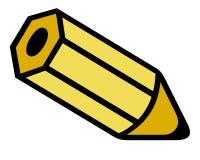 Желтый карандаш иллюстрация штока