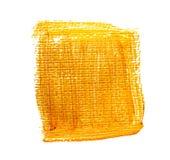 Желтый оранжевый акриловый квадрат Стоковые Изображения