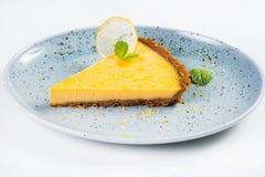 Желтый пирог лимона стоковое изображение rf