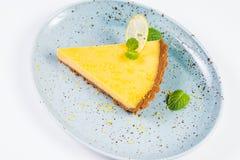 Желтый пирог лимона Стоковая Фотография