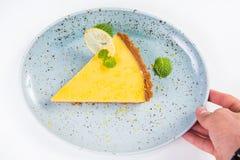 Желтый пирог лимона Стоковые Фото
