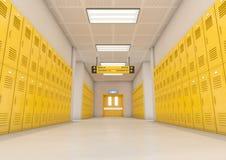 Желтый свет шкафчиков школы бесплатная иллюстрация
