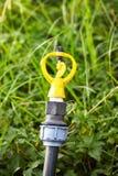 Желтый спринклер мочить Стоковая Фотография