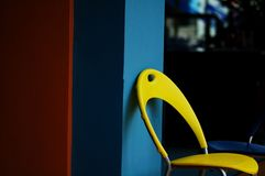 Желтый стул Стоковое Фото