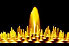Желтый фонтан воды Стоковое Изображение RF