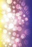 желтый цвет абстрактного bokeh предпосылки лиловый Стоковые Фотографии RF