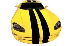 желтый цвет автомобильной гонки Стоковая Фотография