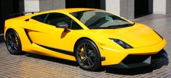 желтый цвет автомобиля дорогий Стоковая Фотография