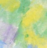 желтый цвет акварели зеленой бумаги бесплатная иллюстрация