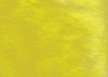 желтый цвет акварели мытья Стоковые Изображения