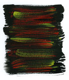 желтый цвет акварели предпосылки черный красный Стоковая Фотография RF