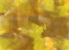 желтый цвет акварели стародедовской предпосылки темный бумажный стоковые фотографии rf