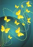 желтый цвет бабочки Иллюстрация штока