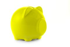 желтый цвет банка piggy Стоковое фото RF