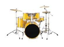 желтый цвет барабанчиков стоковое изображение rf