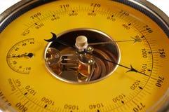 желтый цвет барометра Стоковое Изображение