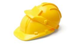 желтый цвет безопасности шлемов стоковые изображения