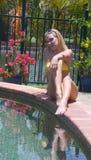 желтый цвет бикини Стоковое Фото