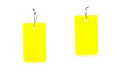 желтый цвет бирок Стоковая Фотография RF
