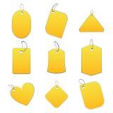 желтый цвет бирок Стоковые Изображения RF