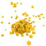 желтый цвет блков Стоковое фото RF