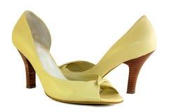 желтый цвет ботинок Стоковые Изображения RF