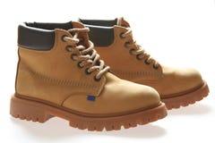 желтый цвет ботинок Стоковое Изображение