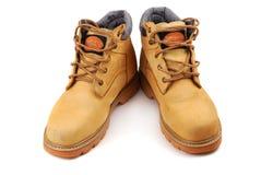 желтый цвет ботинок Стоковое Фото