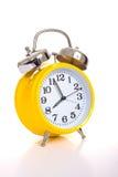 желтый цвет будильника Стоковые Фото