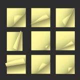желтый цвет бумаг примечания Стоковая Фотография RF