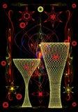 желтый цвет ваз Стоковое Изображение RF