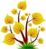 желтый цвет вала листьев иконы Стоковые Фотографии RF