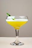 желтый цвет ванили eggnogcocktail Стоковое Фото