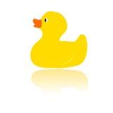желтый цвет вектора утки ванны Стоковое Изображение RF