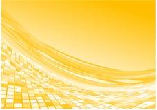 желтый цвет векторного потока 3d Стоковые Фотографии RF