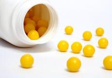 желтый цвет витамина dradees Стоковое Изображение RF