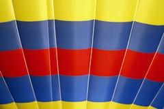 желтый цвет воздушного шара голубой горячий красный Стоковая Фотография