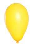 желтый цвет воздушного шара предпосылки белый Стоковая Фотография RF