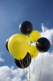желтый цвет воздушных шаров черный Стоковое Изображение RF