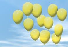 желтый цвет воздушных шаров Стоковые Фотографии RF