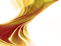 желтый цвет волны фрактали Стоковая Фотография RF